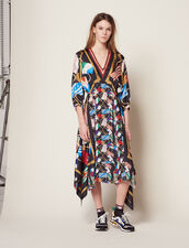 Long Printed Dress : Dresses color Black