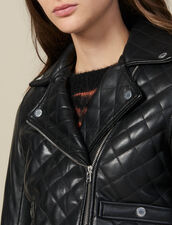 Quilted Leather Jacket : Blazers & Jackets color Black