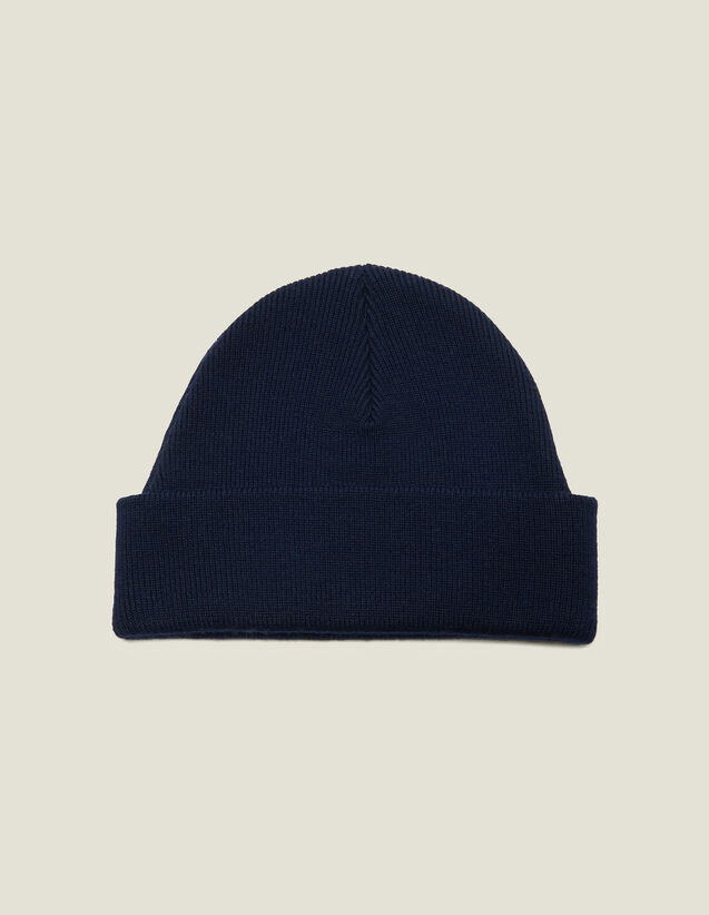 Wool Blend Beanie : Gloves & Hats color Black
