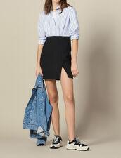 Trompe L'Œil Effect Dress : Dresses color Blue sky