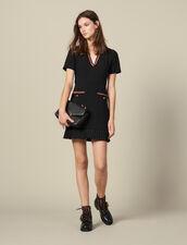 Short dress with decorative trim : LastChance-ES-F40 color Black