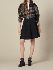 Flared Knit Skirt : Skirts & Shorts color Black