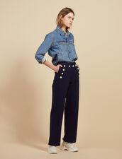 Sailor Trousers : Pants color Navy Blue
