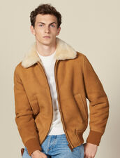 Shearling jacket : Blousons & Manteaux color Camel