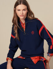 Trucker-neck sweater : Sweaters & Cardigans color Navy Blue