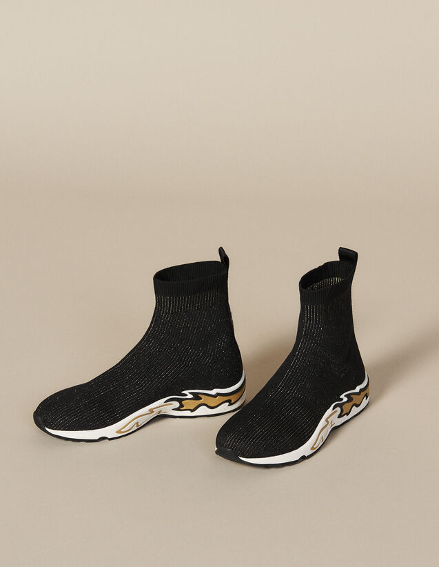 Flame Sock Trainers : All Shoes color black/gold