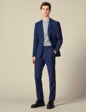 Classic super 110 suit trousers : Winter Collection color Petrol