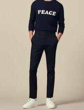 Slim-Fit Stretch Trousers : LastChance-IT-H50 color Navy Blue