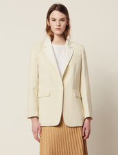 Suit Jacket With Contrasting Collar : All Selection color Ecru