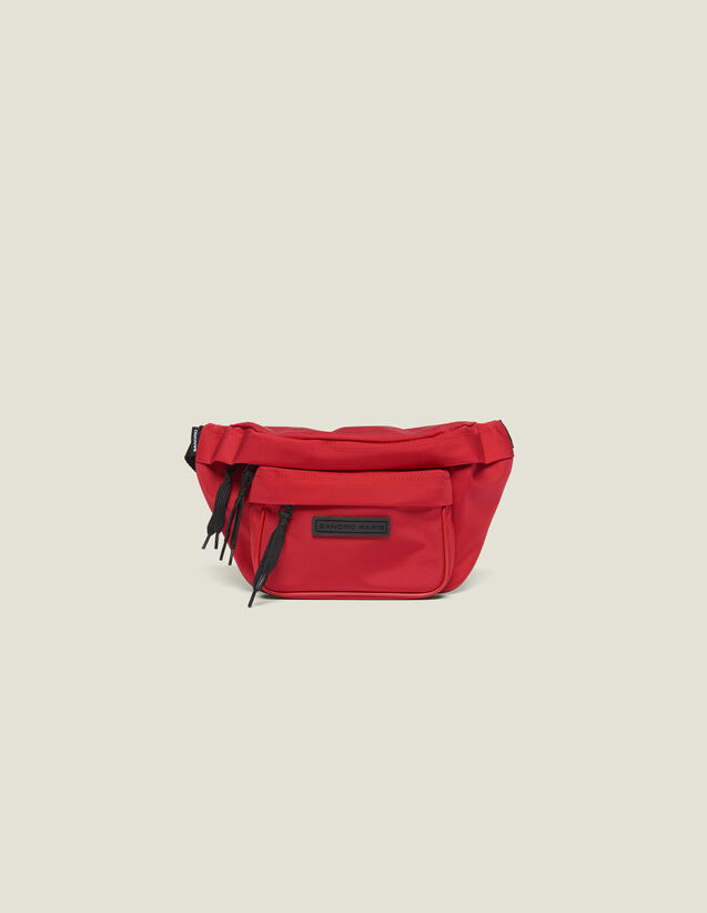 Cross-Body Banana Bag : All Leather Goods color Red
