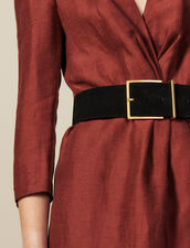 Wide Split Leather Belt : Belts color Black