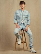 Light Washed Jeans - Narrow Cut : Sélection Last Chance color Blue Vintage - Denim