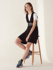 Short Dress With Lace Inset : All Selection color Black