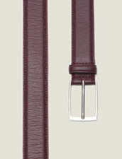 Grained Leather Belt : Winter Collection color Brown