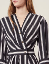 Midi Dress With Contrasting Stripes : All Selection color Black