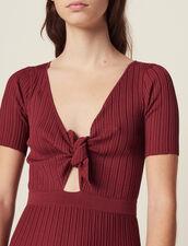 Openwork Knit Midi Dress : LastChance-FR-FSelection color Land of Fire