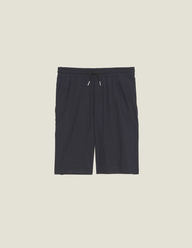 Drawstring Waist Bermuda Shorts : Sélection Last Chance color Navy Blue