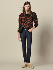 Raw denim skinny jeans : Jeans color Raw-Denim