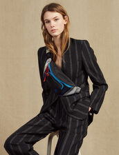 Matching Striped Blazer : All Selection color Black