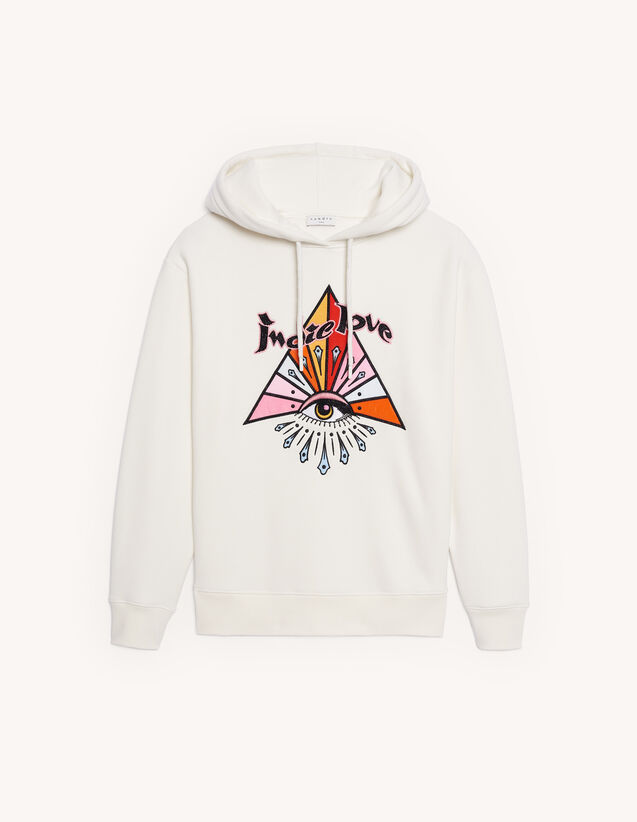 Embroidered hoodie : Sweatshirts color white