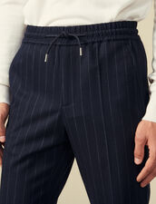 Smart wool trousers : LastChance-IT-H40 color Navy Blue