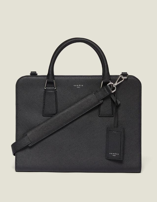 Saffiano Leather Briefcase : Briefcases color Black