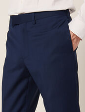 Mohair Wool Suit Trousers : Suits & Tuxedos color Blue