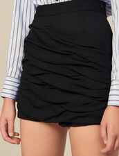 Shorts With Draped Details : Skirts & Shorts color Black