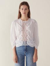 Long-Sleeved Silk Top : LastChance-FR-FSelection color white