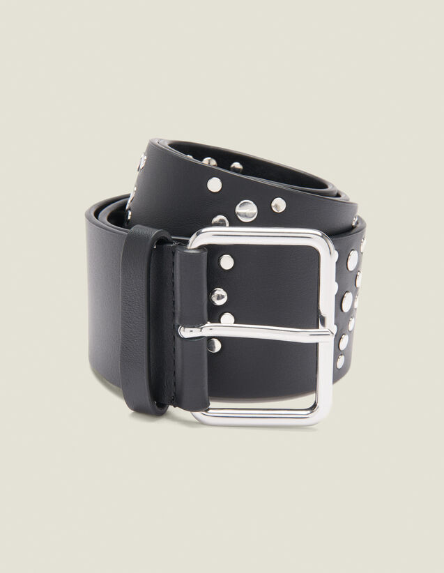 Black Belt Trimmed With Studs : All Winter collection color Black