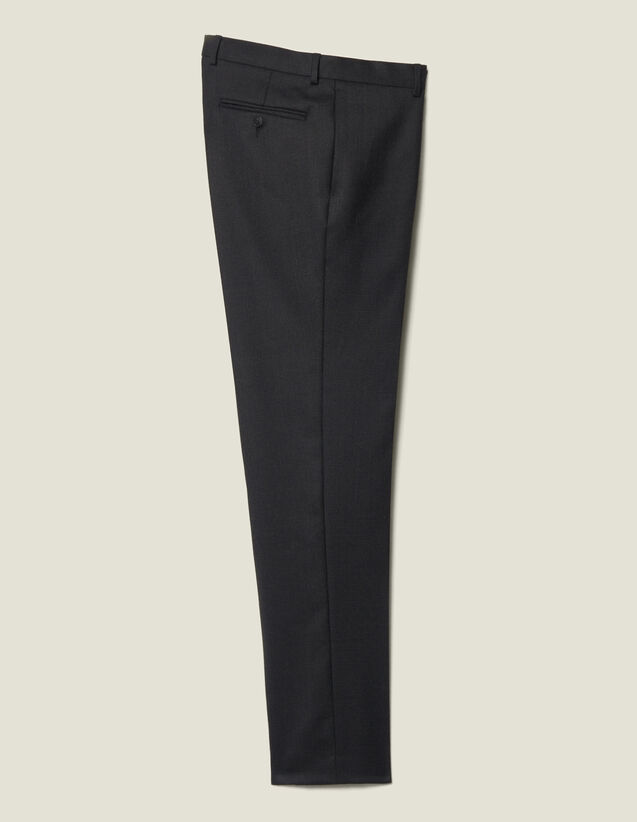 Wool Suit Trousers : Suits & Tuxedos color Charcoal Grey