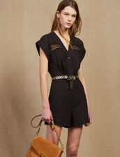 Sleeveless Playsuit : All Selection color Black