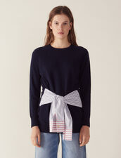 Wool And Cashmere Sweater : LastChance-FR-FSelection color Navy Blue