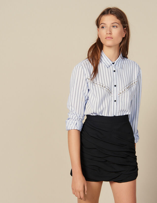Shorts With Draped Details : FBlackFriday-FR-FSelection-30 color Black