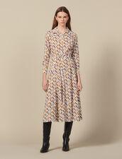 Cowboy Boot Print Shirt Dress : Dresses color Multi-Color
