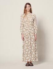 Long Dress With Butterflies Print : LastChance-FR-FSelection color Ecru