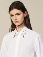 Asymmetric shirt trimmed with studs : FBlackFriday-FR-FSelection-30 color white