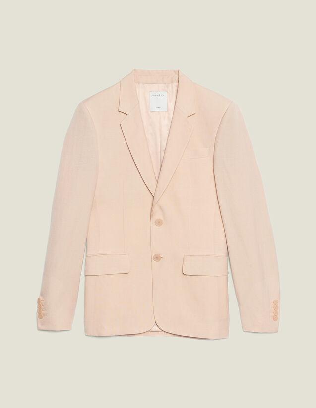 Linen Blend Suit Jacket : Suits & Tuxedos color Light pink