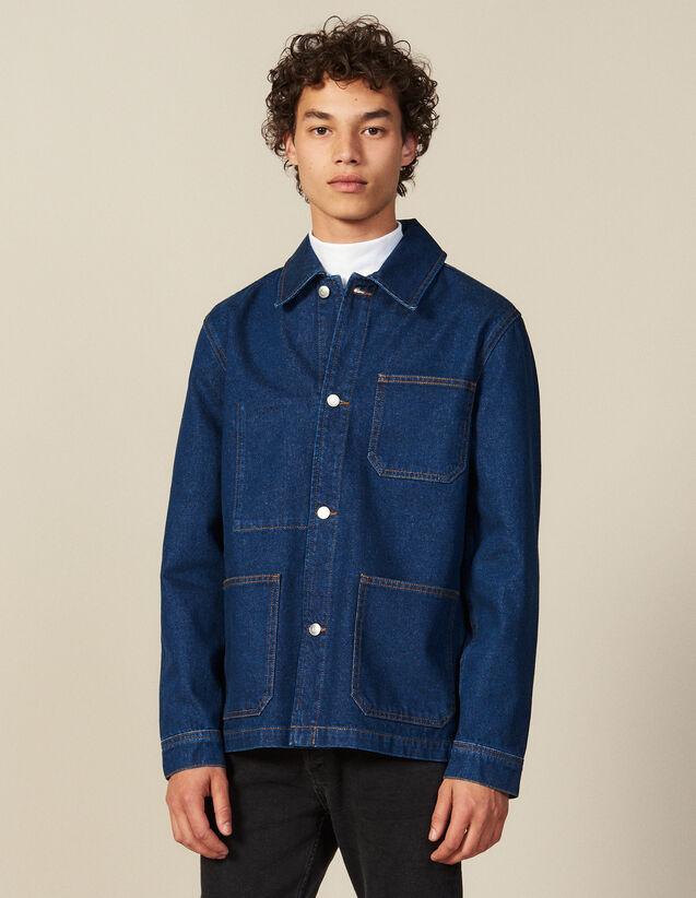 Denim Workwear Jacket : All Winter collection color Blue Vintage - Denim