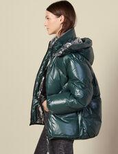 Reversible Padded Jacket : Coats color Bottle Green