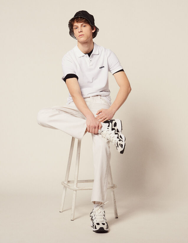 Cotton Piqué Polo Shirt : All Selection color white