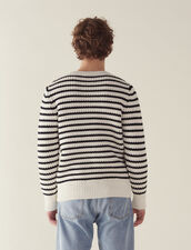 Breton Sweater With Fancy Rib : Sweaters & Cardigans color Ecru