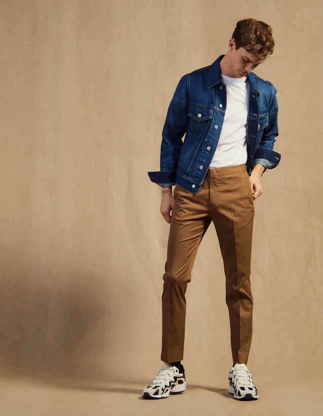 Fitted Chinos : Pants & Shorts color Navy Blue