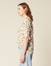 Flowing Printed Top : All Selection color Ecru