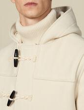 Wool duffle coat : LastChance-IT-H50 color Ecru
