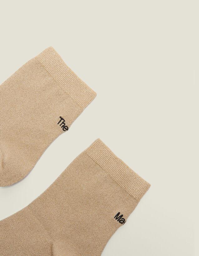 Lurex Embroidered Socks : LastChance-FR-FSelection color Gold