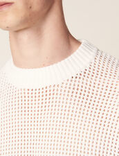 Openwork Knit Sweater : Sweaters & Cardigans color Ecru