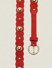 Leather Belt With Decoration : LastChance-FR-FSelection color Red