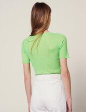 Fluorescent Knit T-Shirt : Tops & Shirts color Vert fluo