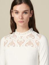 Poplin T-Shirt With Insert : FBlackFriday-FR-FSelection-30 color Ecru